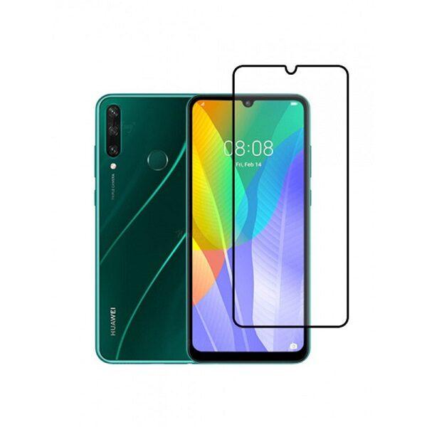 گلس گوشی هواوی Y8P مدل فول 2020 محافظ صفحه نمایش شیشه ای Y8P تمام چسب گلس Full Glue Glass Huawei y8p