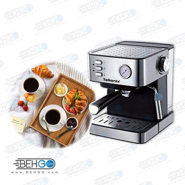 اسپرسو ساز تلیونیکس مدل TEM5100 کاپوچینو ساز تلیونیکس مدل TEM5100 قهوه ساز تلیونیکس مدل TEM5100 دستگاه Telonix espresso machine model TEM5100