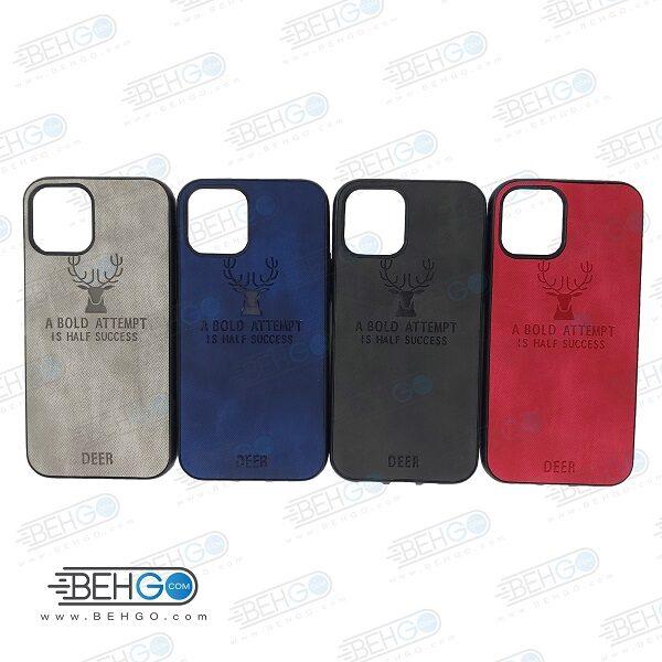 قاب گوشی ایفون 12 پرو و ایفون 12 کاور ایفون 12 پرو و ایفون 12 گارد محافظ اپل مدل طرح گوزن قاب Best Deer Case For Apple 6.1 Iphone 12 Pro / Iphone 12