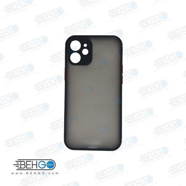 قاب آیفون 12 مینی کاور اپل 12 5.4 اینچ محافظ دور سیلیکون رنگی پشت مات محافظ لنز دوربین کاور آیفون Fashion Case 5.4 inch Apple Iphone 12 Mini