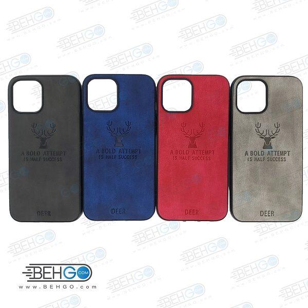 قاب گوشی ایفون 12 پرو مکس کاور ایفون 12 پرو مکس گارد محافظ اپل مدل طرح گوزن قاب Best Deer Case For Apple Iphone 12 Pro Max