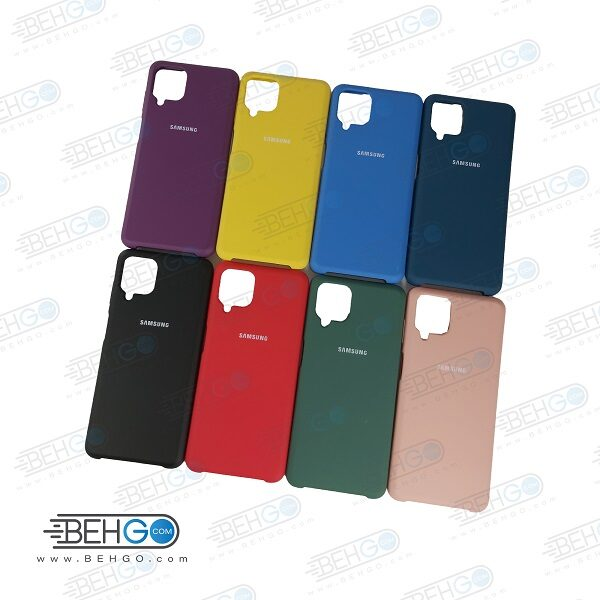 قاب گوشی A12 کاور سیلیکون اصلی بک کاور a12 قاب گوشی سامسونگ A12 قاب سیلیکونی سامسونگ Original Silicone Case for samsung A12
