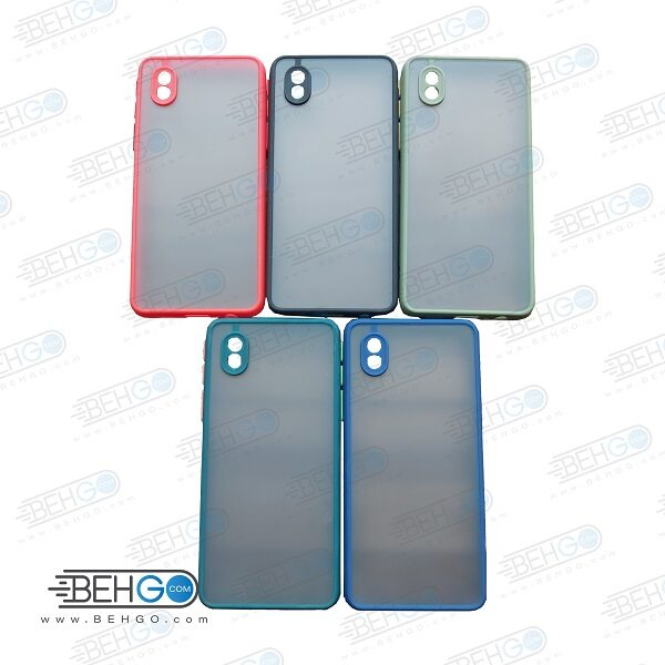 قاب A01core محافظ دور سیلیکون A01 core رنگی پشت مات با برجستگی لنز دوربین سامسونگ Fashion Case Samsung A01core