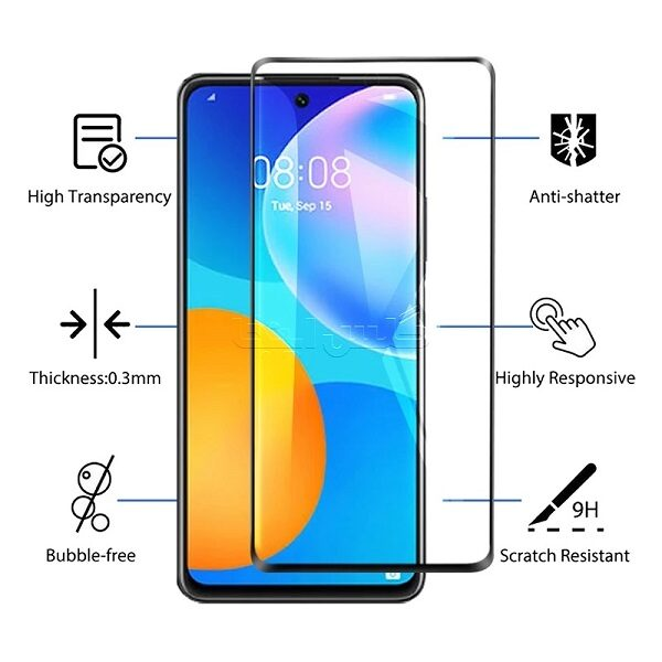 گلس گوشی هواوی Y7A مدل فول محافظ صفحه نمایش شیشه ای Y7A تمام چسب گلسFull Glue Glass Huawei Y7A