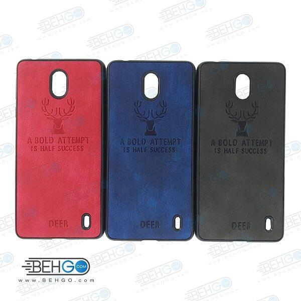 قاب گوشی نوکیا Nokia 1 plus کاور Nokia 1 plus گارد محافظ گلکسی نوکیا وان پلاس مدل طرح گوزن قاب Best Deer Case For Nokia 1 plus