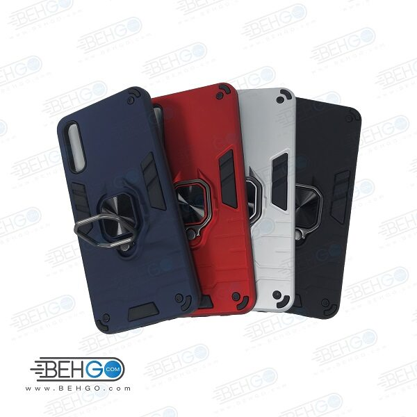 قاب گوشی a50/a30s/a50s قاب ضد ضربه a50s قاب هلدر دار گارد محافظ قاب پاپ سوکت دار مدل حلقه دار انگشتی هولدر مگنتی مدل بتمن ارمور اصلی مناسب a50 ،a30s و A50S کاور گوشی موبایل سامسونگ Anti Shock Anti Shock BATMAN ARMOR FINGER RING CASE COVER For Samsung Galaxy A30S/A50/A50S
