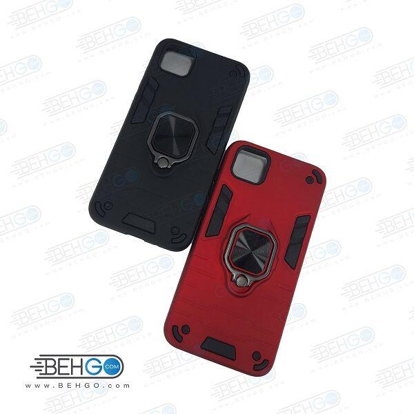 قاب گوشی y5p قاب ضد ضربه y5p قاب هلدر دار گارد محافظ قاب پاپ سوکت دار مدل حلقه دار انگشتی هولدر مگنتی مدل بتمن ارمور اصلی مناسب وای 8 پی کاور گوشی موبایل هواوی Anti Shock BATMAN ARMOR FINGER RING CASE COVER For Huawei Y5 p