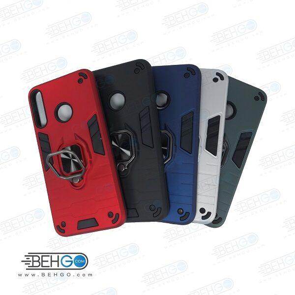 قاب گوشی y7p قاب ضد ضربه y7p قاب هلدر دار گارد محافظ قاب پاپ سوکت دار مدل حلقه دار انگشتی هولدر مگنتی مدل بتمن ارمور اصلی مناسب وای 7 پی کاور گوشی موبایل هواوی Anti Shock BATMAN ARMOR FINGER RING CASE COVER For Huawei Y7 p