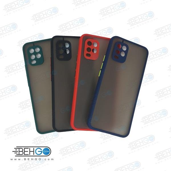 قاب گوشی شیائومی می 10 لایت گارد مدل پشت مات اصلی دور سیلیکونی کاور با محافظ لنز دوربین شیائومی Fashion Case For Xiaomi mi 10 lite