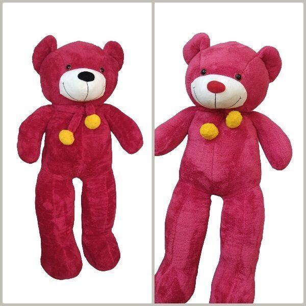 عروسک خرس بزرگ قرمز سایز 130 سانتی متر