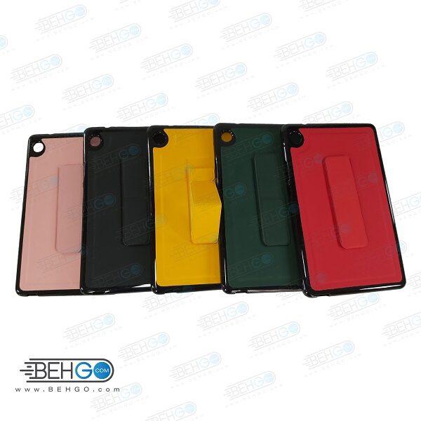 قاب تبلت هواوی t8 کاور مدل رنگی هولدر استند پایه نگهدارنده تبلت هواوی میت پد تی 8 سایز 8 اینچ کاور Stand  Back Cover 8 inch Case HUAWEI MatePad T8
