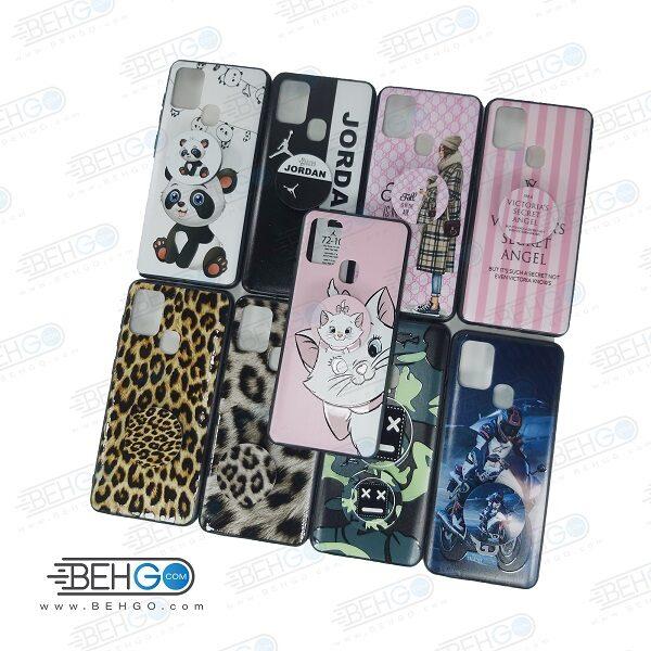 قاب گوشی سامسونگ A21s کاور Samsung A21S دخترانه پاپ سوکت فانتزی مدل طرح دار مناسب fantasy case with popsocket for Samsung Galaxy A21S
