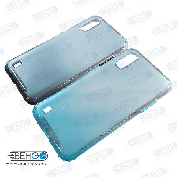 قاب گوشی A01 کاور A01 قاب محافظ لنز دار سامسونگ A01 گارد مدل جدید 2 رنگ مناسب گوشی موبایل سامسونگ New 2 Color CASE COVER For Samsung Galaxy A01