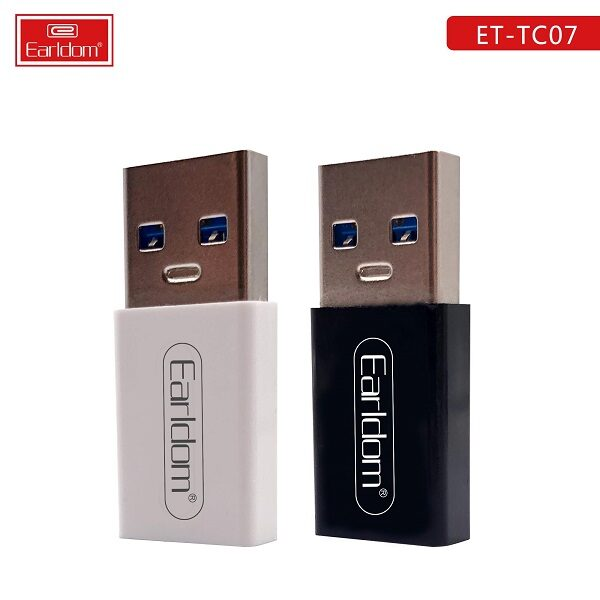 مبدل Type-C به USB ارلدام اصلی مدل Earldam Type-C To USB OTG ET-TC07