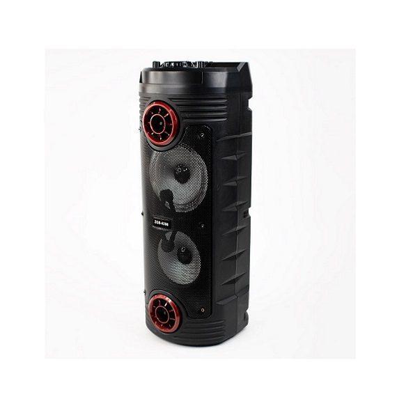 اسپیکر ایستاده با ریموت کنترل و میکروفون اسپیکر بلوتوثی قابل حمل مدل ZQS-6208 بلندگوی بزرگ اصلی با کیفیت Portable Bluetooth speaker system ZQS 6208 speaker with mic