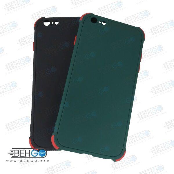 قاب ایفون 6 پلاس کاور مدل ژله ای دکمه رنگی محکم ضد ضربه با محافظ لنز دوربین گوشی ایفون 6 اس پلاس گارد محافظ قاب Camera Cover color key Case for Apple Iphone 6 Plus / Iphone 6S Plus