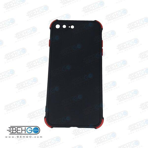 قاب ایفون 7 پلاس و ایفون 8 پلاس کاور مدل ژله ای دکمه رنگی محکم ضد ضربه با محافظ لنز دوربین گوشی ایفون 8 پلاس و ایفون 7 پلاس گارد محافظ قاب Camera Cover color key Case for Apple Iphone 7 Plus / Iphone 8 Plus