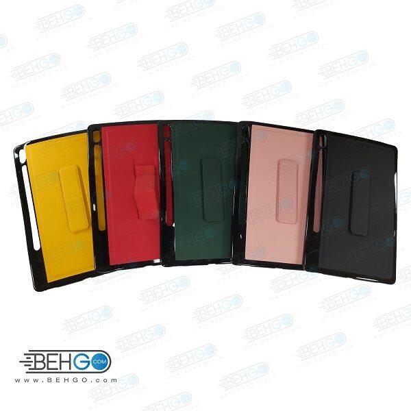 قاب تبلت سامسونگ S6 کاور مدل رنگی با هولدر استند پایه نگهدارنده تبلت سامسونگ گلکسی تب اس 6 کاور Stand Back Cover Case Tablet Samsung Galaxy S6