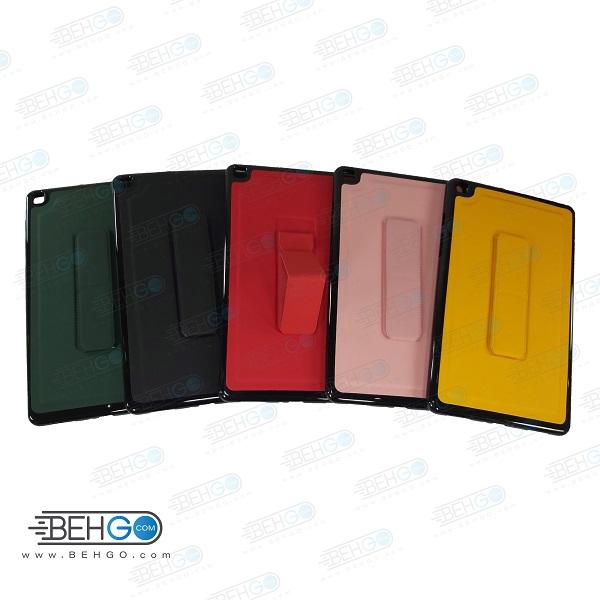 قاب تبلت سامسونگ T295 کاور مدل رنگی با هولدر استند پایه نگهدارنده تبلت سامسونگ تی 295 سایز 8 اینچ کاور Stand Back Cover 8 inch Case Samsung Galaxy Tab A 8.0 2019 LTE SM-T295