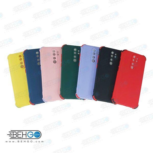 قاب ردمی نوت 8 پرو کاور مدل ژله ای دکمه رنگی محکم ضد ضربه با محافظ لنز دوربین گوشی شیائومی ردمی نوت 8 پرو گارد محافظ قاب Camera Cover color key Case for Xiaomi Redmi Note 8 Pro