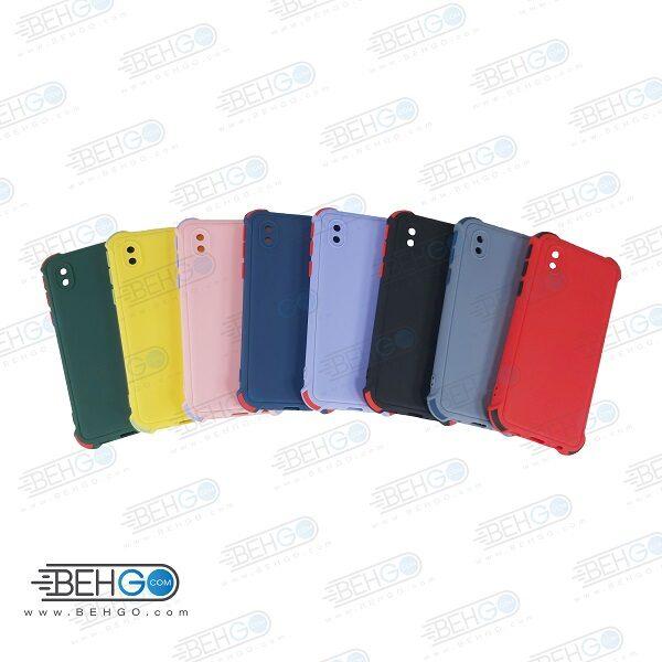 قاب سامسونگ A01 Core کاور دکمه رنگی با محافظ لنز دوربین گوشی Camera Cover color key Case for Samsung A01 Core