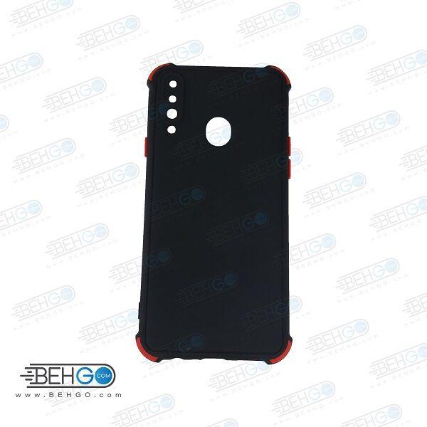 قاب سامسونگ A20S کاور مدل ژله ای دکمه رنگی محکم ضد ضربه با محافظ لنز دوربین گوشی A20S گارد محافظ قاب Camera Cover color key Case for Samsung A20S