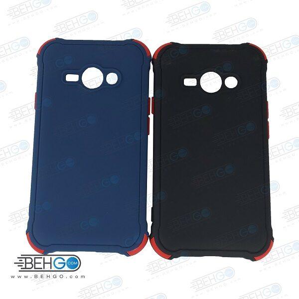 قاب سامسونگ J1 Ace کاور مدل ژله ای دکمه رنگی محکم ضد ضربه با محافظ لنز دوربین گوشی J1 Ace گارد محافظ قاب Camera Cover color key Case for Samsung Galaxy J1 Ace / J110 / J111