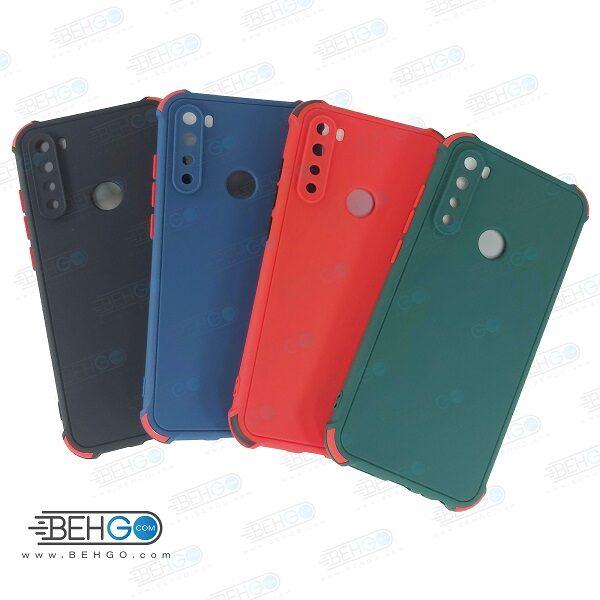 قاب شیائومی ردمی نوت 8 کاور مدل ژله ای دکمه رنگی محکم ضد ضربه با محافظ لنز دوربین گوشی شیائومی ردمی نوت 8 گارد محافظ قاب Camera Cover color key Case for Xiaomi Redmi Note 8