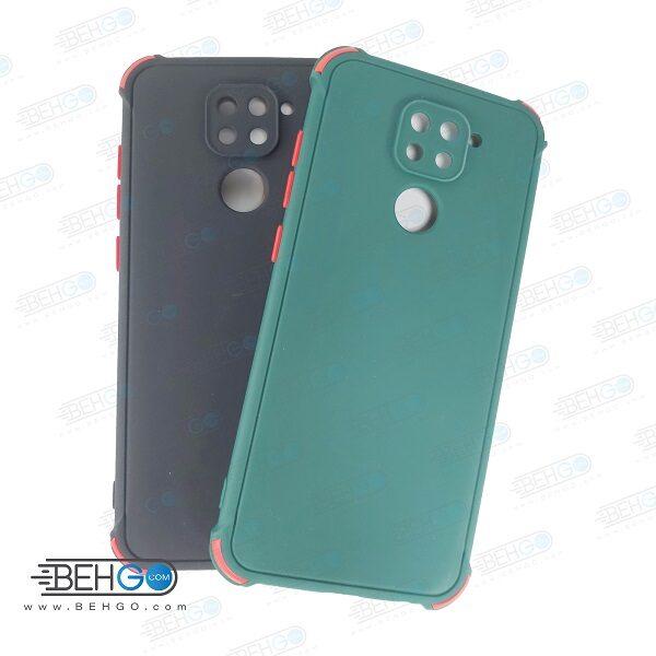 قاب شیائومی ردمی نوت 9 کاور مدل ژله ای دکمه رنگی محکم ضد ضربه با محافظ لنز دوربین گوشی شیائومی ردمی نوت 9 گارد محافظ قاب Camera Cover color key Case for Xiaomi 10X / Redmi Note 9