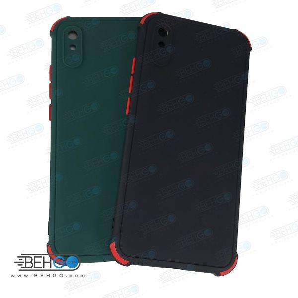 قاب شیائومی ردمی 9A کاور مدل ژله ای دکمه رنگی محکم ضد ضربه با محافظ لنز دوربین گوشی شیائومی ردمی 9A گارد محافظ قاب Camera Cover color key Case for Xiaomi Redmi 9A