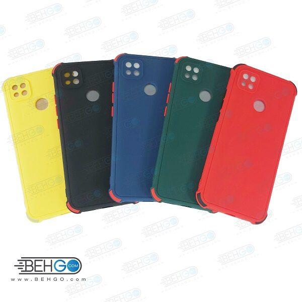 قاب شیائومی ردمی 9C کاور مدل ژله ای دکمه رنگی محکم ضد ضربه با محافظ لنز دوربین گوشی شیائومی ردمی 9 سی گارد محافظ قاب Camera Cover color key Case for Xiaomi Redmi 9C