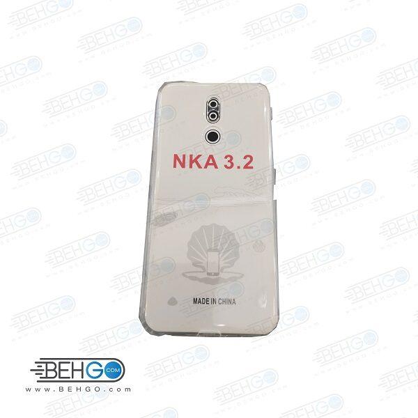 قاب نوکیا 3.2 کاور نوکیا 3.2 ژله ای شفاف و بی رنگ با محافظ لنز دوربین گوشی نوکیا مدل Clear Cover Camera Protection Case for For Nokia 3.2