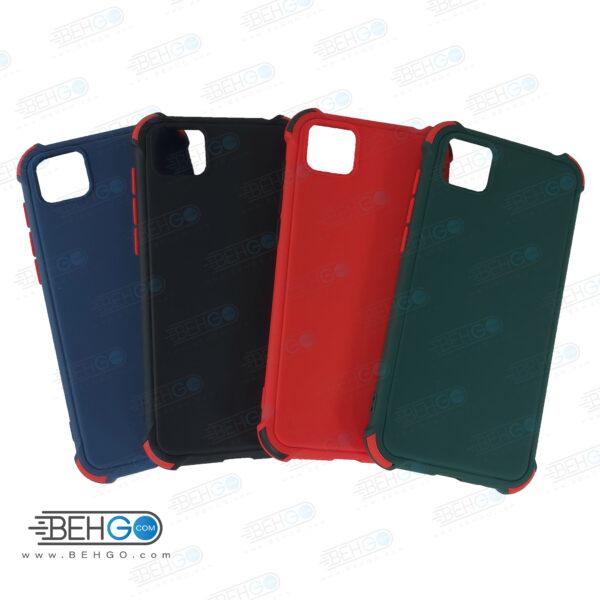 قاب هواوی Y5P کاور مدل ژله ای دکمه رنگی محکم ضد ضربه با محافظ لنز دوربین گوشی وای 5 پی 2020 گارد محافظ قاب Camera Cover color key Case for Huawei Y5P