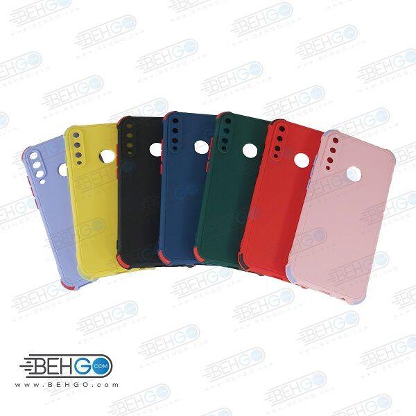 قاب هواوی Y7P کاور مدل ژله ای دکمه رنگی محکم ضد ضربه با محافظ لنز دوربین گوشی وای 7 پی 2020 گارد محافظ قاب Camera Cover color key Case for Huawei Y7P