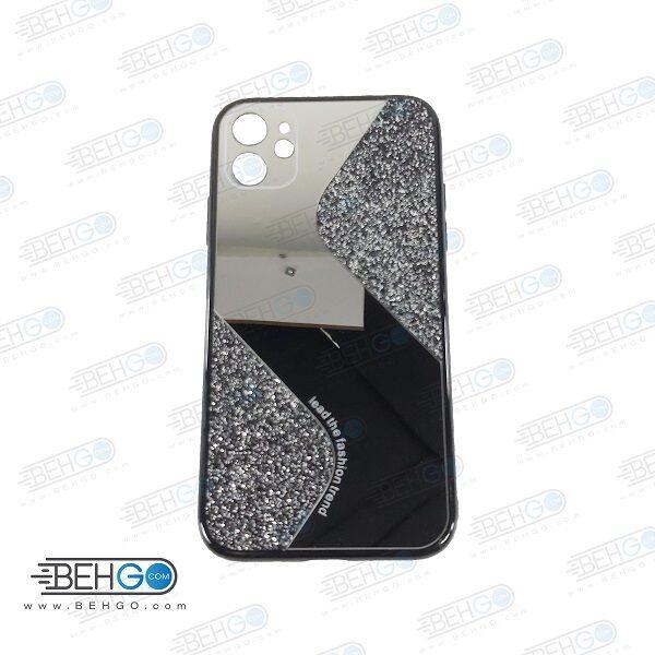 قاب گوشی ایفون 11 قاب فانتزی گوشی ایفون 11 سایز 6.1 اینچ گارد مدل جدید اکلیلی آینه ای مناسب گوشی موبایل اپل New Mirror glitter case For Apple Iphone 11