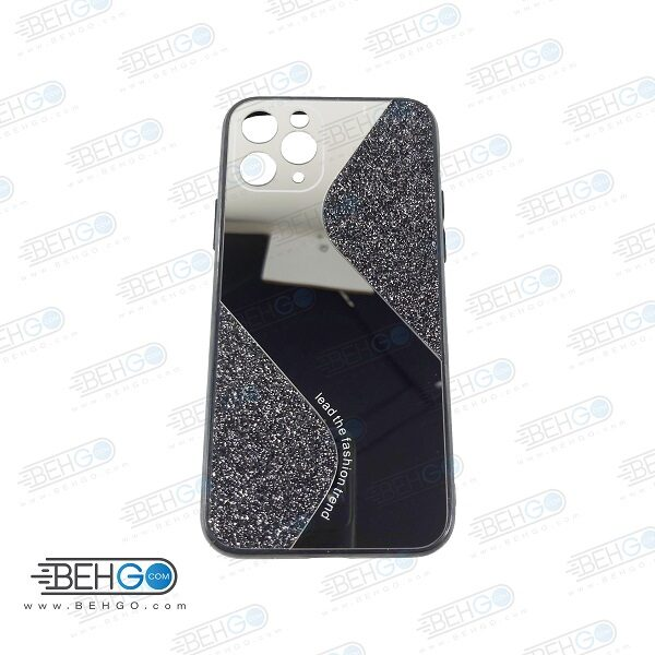 قاب گوشی ایفون 11 پرو قاب فانتزی گوشی ایفون 11 پرو 5.8 اینچ گارد مدل جدید اکلیلی آینه ای مناسب گوشی موبایل اپل New Mirror glitter case For Apple Iphone 11 Pro