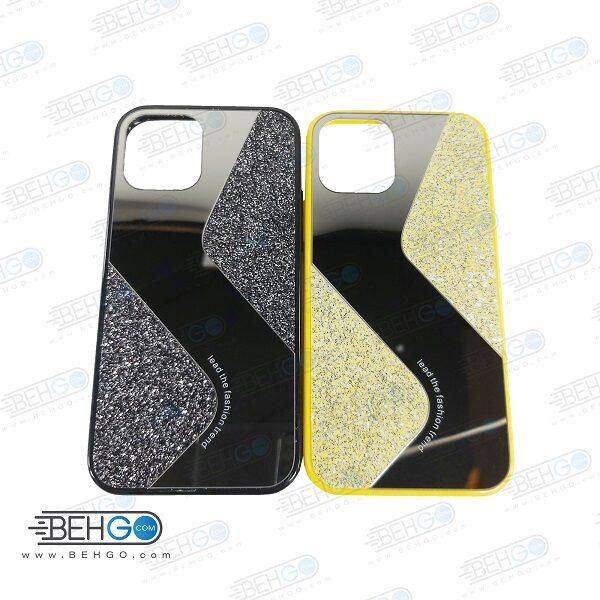 قاب گوشی ایفون 12 پرو و ایفون 12 قاب فانتزی گوشی ایفون 12 سایز 6.1 اینچی گارد مدل جدید اکلیلی آینه ای مناسب گوشی موبایل اپل New Mirror glitter case For Apple Iphone 12 / Iphone 12 Pro