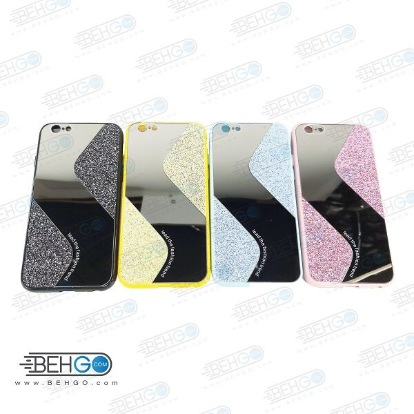 قاب گوشی ایفون 6 قاب فانتزی گوشی ایفون 6 گارد مدل جدید اکلیلی آینه ای مناسب گوشی موبایل اپل New Mirror glitter case For Apple Iphone 6S / iphone 6G