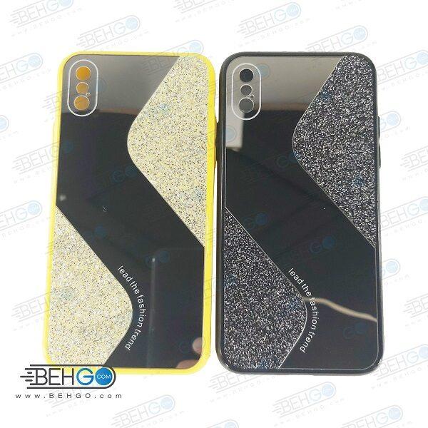 قاب گوشی ایفون X قاب فانتزی گوشی ایفون ایکس اس گارد مدل جدید اکلیلی آینه ای مناسب گوشی موبایل اپل New Mirror glitter case For Apple Iphone XS