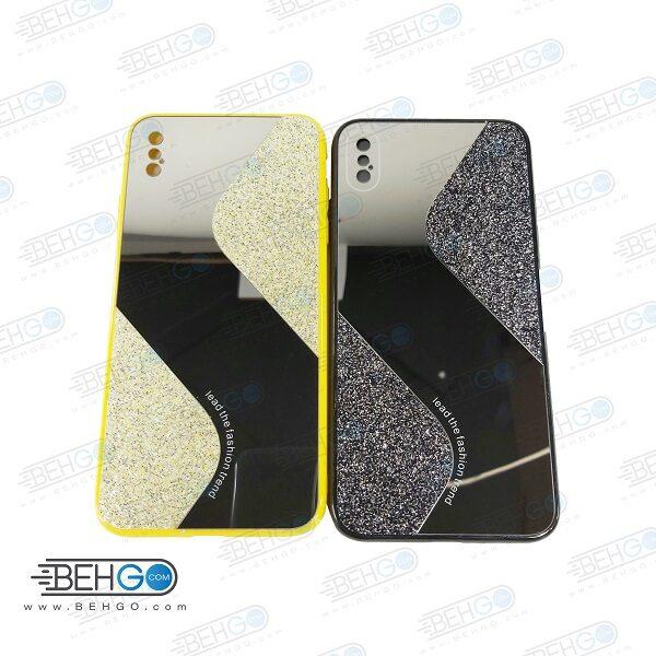 قاب گوشی ایفون Xs Max قاب فانتزی گوشی ایفون ایکس اس مکس گارد مدل جدید اکلیلی آینه ای مناسب گوشی موبایل اپل New Mirror glitter case For Apple Iphone Xs Max