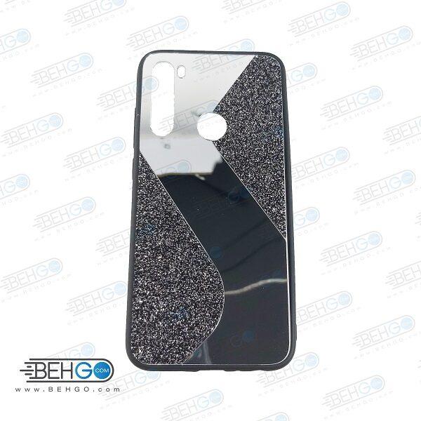 قاب گوشی شیائومی ردمی نوت 8 قاب فانتزی گوشی ردمی نوت 8 گارد مدل جدید اکلیلی آینه ای مناسب گوشی موبایل شیائومی New Mirror glitter case For Xiaomi Redmi Note 8
