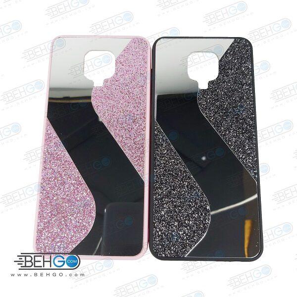 قاب گوشی شیائومی ردمی نوت 9 اس قاب فانتزی گوشی ردمی نوت 9 پرو گارد مدل جدید اکلیلی آینه ای مناسب گوشی موبایل شیائومی New Mirror glitter case For Xiaomi Redmi Note 9S / Redmi Note 9 Pro