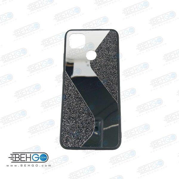 قاب گوشی شیائومی ردمی 9 سی قاب فانتزی گوشی ردمی 9C گارد مدل جدید اکلیلی آینه ای مناسب گوشی موبایل شیائومی New Mirror glitter case For Xiaomi Redmi 9C