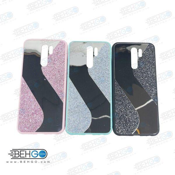 قاب گوشی شیائومی ردمی 9 قاب فانتزی گوشی ردمی 9 گارد مدل جدید اکلیلی آینه ای مناسب گوشی موبایل شیائومی New Mirror glitter case For Xiaomi Redmi 9