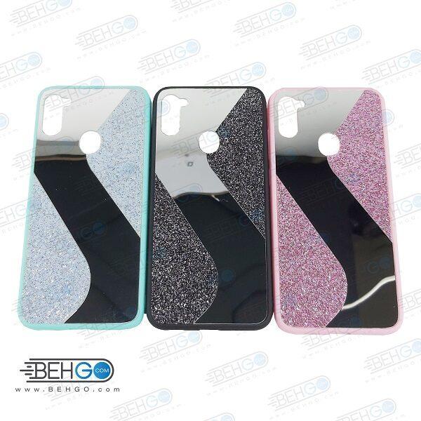 قاب گوشی A11 و M11 کاور A11 قاب فانتزی سامسونگ A11 گارد مدل جدید اکلیلی آینه ای مناسب گوشی موبایل سامسونگ New Mirror glitter case For Samsung Galaxy M11 / A11