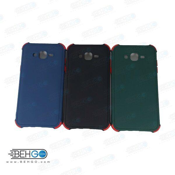 قاب J7 کاور مدل ژله ای دکمه رنگی محکم ضد ضربه با محافظ لنز دوربین گوشی سامسونگ جی 7 کور گارد محافظ قاب Camera Cover color key Case for Samsung  J7