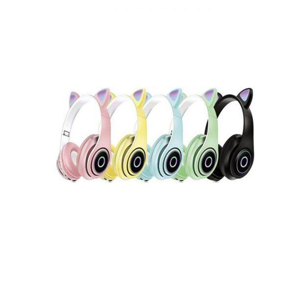 هدفون بلوتوث گربه ای مدل P39M هدفون طرح گوش گربه هدفون بلوتوث Headphone P39M Cat Ear Bluetooth 5.0 Wireless Headset