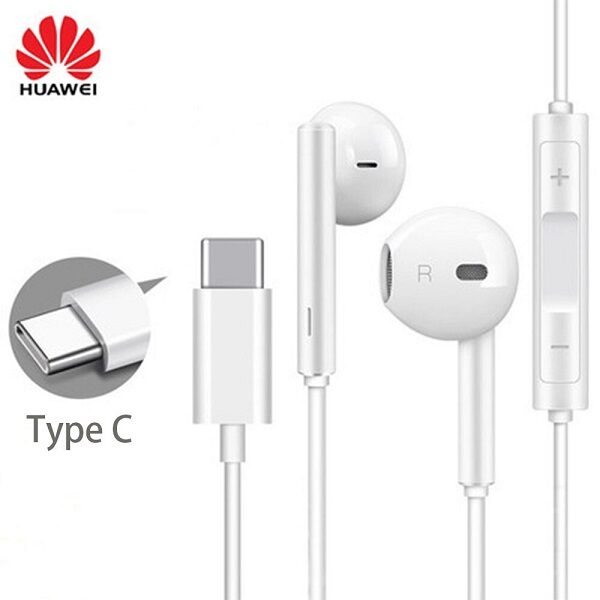 هندزفری تایپ سی هنذفری هواوی اورجینال سرجعبه 100 درصد اصلی مدل Huawei Type-C Headphones GA 0296