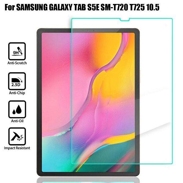 گلس تبلت سامسونگ تی 725 محافظ صفحه نمایش شیشه ای تب S5e گلس T725 Glass Screen Protector For Samsung Galaxy Tab S5e 10.5 LTE 2019 T720 TM-T725