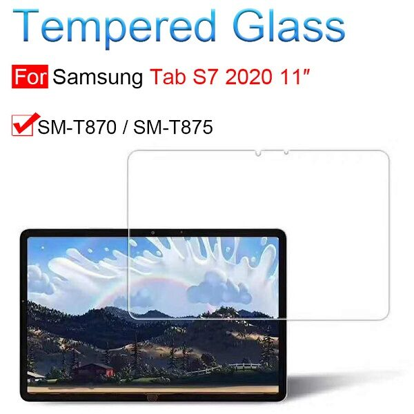 گلس تبلت سامسونگ گلکسی اس 7 مدل تی 875 تی 870 محافظ صفحه نمایش Samsung Galaxy Tab S7 T870 Screen Protector Model SM-T870/T875/T878